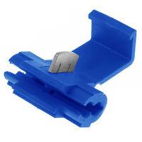 100x Blue Lock Wire Connectors Quick Splice Terminals Crimp 0.75-2.5mm TS