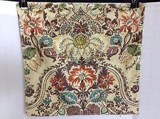"""Pottery Barn Jules Velvet Jewel Toned Flowers Sofa Bed Pillow Cover 20"""" NEW"""