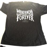 Black Panther Wakanda Forever Black Graphic T-Shirt Sz XL A2057