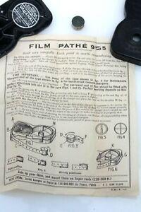 PATHEX Pathescope 9.5mm film Cartridge/Charger/Cassette + PATHE INSTRUCTIONS
