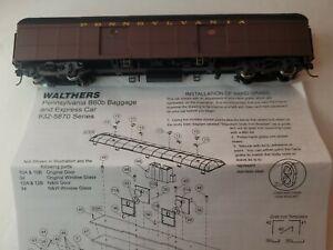 WALTHERS HO  B60B BAGGAGE CAR PRR 2/54-9/62 Scheme-Non Mssngr #932-5836