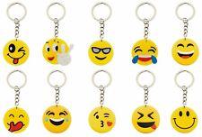 LOT de 10 porte clés EMOJI EMOTION EMOTICONES SMILEY tous différents