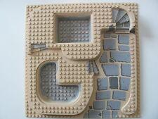 LEGO 6092 Baseplate, Raised 32 x 32 Three Level & Slate Ramp Gray Pool Pattern