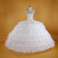 Fashion WHITE Big WEDDING BRIDAL PROM PETTICOAT UNDERSKIRT CRINOLINE
