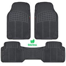 MotorTrend Zero-Odor Floor Mats for Car Truck SUV Black Auto Accessories