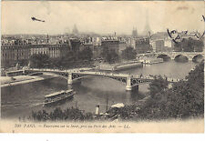 75 - cartolina - PARIGI - Panorama la Senna pris il ponte di Arts