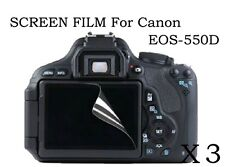 3 HD Ultra Clear Screen Protector Film Cover skin for Canon EOS 550D Digital SLR
