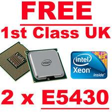 2 x Intel Xeon E5430 Quad Core 2.66Ghz Processor CPU Pair (SLANU - SLBBK)
