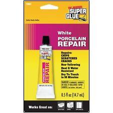Super Glue White Porcelain Repair Fix Chips Scratches Cracks Non Yellowing NIP