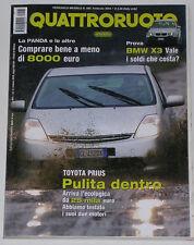 QUATTRORUOTE 2/2004 TOYOTA PRIUS – AUDI TT 3.2 DSG QUATTRO – MAZDA 3 1.6 16V