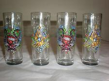 ED HARDY SET OF 4 SHOT GLASSES NEW IN BOX LOVE KILLS