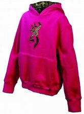Browning Girls Hot Pink Hoodie, Mossy Oak Camo Kids Hooded Sweatshirt