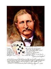 Wild Bill Hickok Print Dead Man's Hand Gunfighter Mounted 18x24