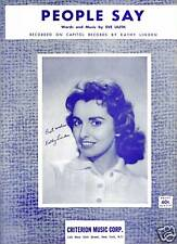CATHY LINDEN Sheet Music PEOPLE SAY Criterion Publ. 60's POP VOCALS
