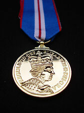 BRITISH ARMY GUARDS,RAF,RM,SBS,POLICE - Queen's Golden Jubilee 2002 Medal+Ribbon