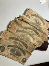 Rare Vintage Wallet With 82 C.S.A. (Virginia) Civil War Notes