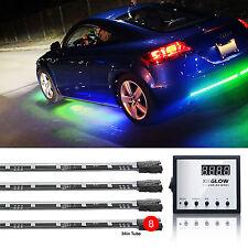 8pc Advanced 3 Million Color LED Underglow Car Remote Body Light Kit Music Mode