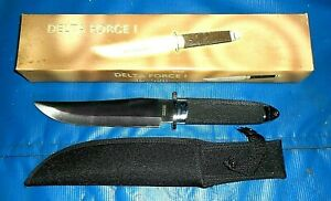 """NEW Frost Cutlery 15-526 13 1/2"""" Delta Force I Hunting Knife with Nylon Sheath"""