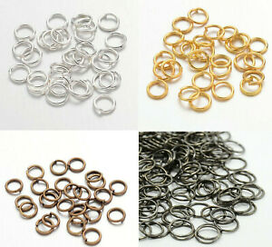 Jump Rings for Jewellery Making Closed Jump Rings Unsoldered Gold Silver Bronze