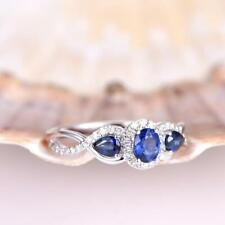 Certified 14k White Gold 3.75Ct Blue Oval Cut Diamond Amazing Engagement Ring