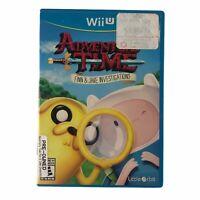 Adventure Time: Finn & Jake Investigations (Nintendo Wii U, 2015) w/Manual CIB