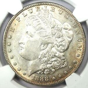 1888-S Morgan Silver Dollar $1 - Certified NGC AU55 - Rare Date - Near MS UNC!