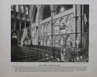 1896 London Aufdruck + Text Poets Ecke Westminster Abbey