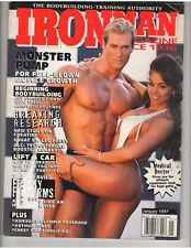 IRONMAN bodybuilding muscle mag/WWE Diva MIDAJAH & MIKE O'HEARN 1-97 Label