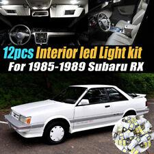 12Pc Super White Car Interior LED Light Bulb Kit for 1985-1989 Subaru RX