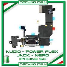 FLEX RICARICA DOCK MICROFONO AUDIO Per Apple IPHONE 5C Flex NERO RICAMBIO