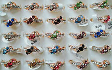 Wholesale 50pcs Exquisite Retail Crystal CZ Rhinestone Gold P Rings Party FREE