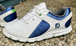 Boys Size 3 Junior FOOTJOY PRO/SL Spikeless Golf Shoes. Worn Once