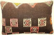 (40*60cm, 16*24cm) Textured handmade pillow cover pink/orange on goat hair rough