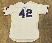 Andruw Jones Autographed/Signed Game Used/Worn #42 Jersey--TEXAS RANGERS