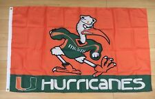 University of Miami Hurricanes 3x5 ft Flag NCAA