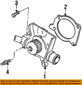 FORD OEM-Water Pump Gasket F7CZ8507AA