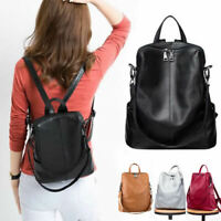 Convertible Real Leather Backpack Rucksack Daypack Shoulder Bag Purse Cute