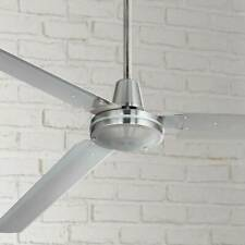 """72"""" Modern Industrial Ceiling Fan Brushed Nickel with Wall Control - FREE SHIP"""