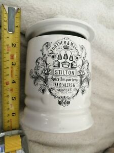 VINTAGE FORTNAM AND MASON STILTON JAR AND LID.