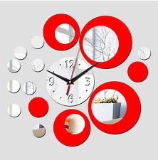 2015 new acrylic big wall clock quartz watch diy clocks 3d stickers