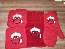Santa Grinch Embroidered kitchen set