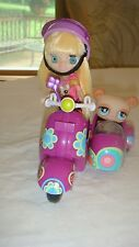 Littlest Pet Shop Scooter and Blythe Doll Brunette & Bear Ages 4+ Hasbro