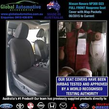 Nissan NP300 Navara D23 Front Neoprene Car Seat Covers - DX RX ST ST-X N-TEC