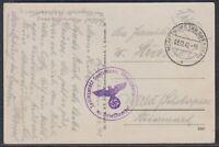 42548) MORITZBURG (KR. DRESDEN) 1942 Teillazarett Seefrieden Feldpost AK