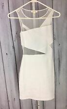 Silence + Noise Womens Dress Urban Outfitters Size XS White Body Hugging Stretch