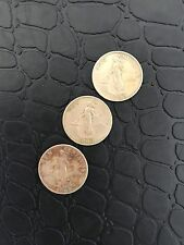 Lot Sale (3pcs) 1963 Philippine Ten Centavo Coin Female, Hammer and Anvil