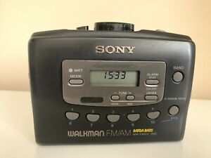 Sony Walkman Black WM-FX 403 Mega Bass Stereo Cassette Tape Player Working