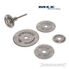 Silverline HSS Saw Disc Set 6pce suits Silverline GMC Dremel rotary tool 289305
