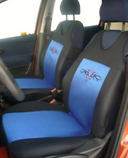2 Blue Front Seat Covers Tribal For Skoda Roomster