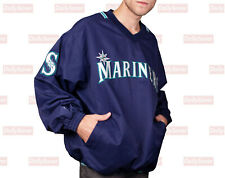 Seattle Mariners Jacket Majestic Pull Over Mariners Baseball Windbreaker Coat